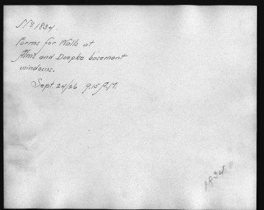 Rapid Transit Photographs -- Box 12, Folder 15 (September 24, 1926) -- print, 1926-09-24, 9:15 A.M. (back of photograph)