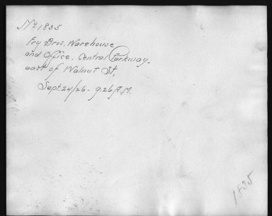 Rapid Transit Photographs -- Box 12, Folder 15 (September 24, 1926) -- print, 1926-09-24, 9:26 A.M. (back of photograph)