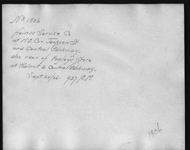 Rapid Transit Photographs -- Box 12, Folder 15 (September 24, 1926) -- print, 1926-09-24, 9:37 A.M. (back of photograph)