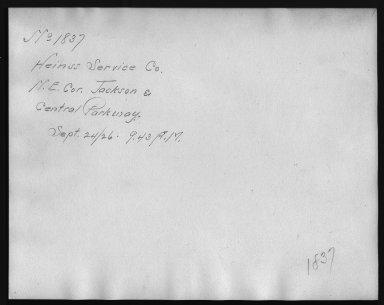 Rapid Transit Photographs -- Box 12, Folder 15 (September 24, 1926) -- print, 1926-09-24, 9:43 A.M. (back of photograph)