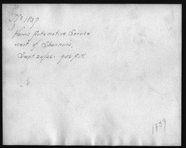 Rapid Transit Photographs -- Box 12, Folder 16 (September 24, 1926) -- print, 1926-09-24, 9:56 A.M. (back of photograph)