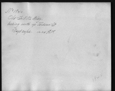 Rapid Transit Photographs -- Box 12, Folder 16 (September 24, 1926) -- print, 1926-09-24, 10:04 A.M. (back of photograph)