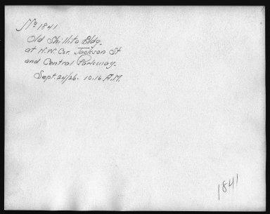 Rapid Transit Photographs -- Box 12, Folder 16 (September 24, 1926) -- print, 1926-09-24, 10:16 A.M. (back of photograph)