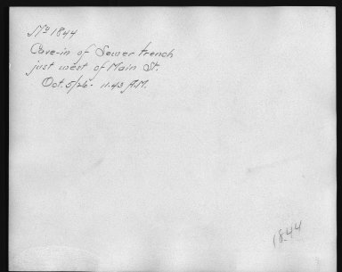 Rapid Transit Photographs -- Box 12, Folder 17 (October 5, 1926 - October 14, 1926) -- print, 1926-10-05, 11:43 A.M. (back of photograph)