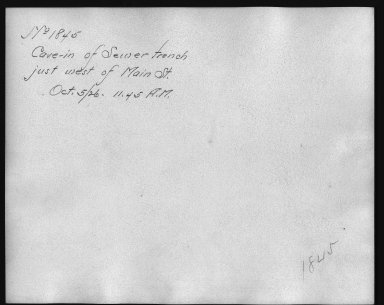 Rapid Transit Photographs -- Box 12, Folder 17 (October 5, 1926 - October 14, 1926) -- print, 1926-10-05, 11:45 A.M. (back of photograph)
