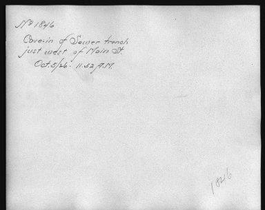 Rapid Transit Photographs -- Box 12, Folder 17 (October 5, 1926 - October 14, 1926) -- print, 1926-10-05, 11:52 A.M. (back of photograph)