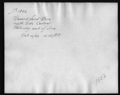 Rapid Transit Photographs -- Box 12, Folder 17 (October 5, 1926 - October 14, 1926) -- print, 1926-10-14, 10:05 A.M. (back of photograph)
