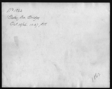 Rapid Transit Photographs -- Box 12, Folder 18 (October 14, 1926 - October 15, 1926) -- print, 1926-10-15, 10:37 A.M. (back of photograph)