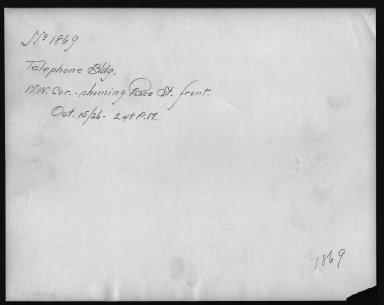 Rapid Transit Photographs -- Box 12, Folder 19 (October 15, 1926 - November 8, 1926) -- print, 1926-10-15, 2:48 P.M. (back of photograph)