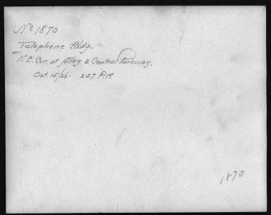 Rapid Transit Photographs -- Box 12, Folder 19 (October 15, 1926 - November 8, 1926) -- print, 1926-10-15, 2:57 P.M. (back of photograph)