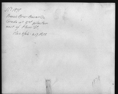 Rapid Transit Photographs -- Box 12, Folder 20 (November 8, 1926) -- print, 1926-11-08, 2:17 P.M. (back of photograph)