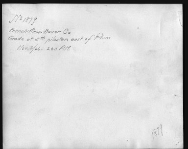 Rapid Transit Photographs -- Box 12, Folder 20 (November 8, 1926) -- print, 1926-11-08, 2:20 P.M. (back of photograph)