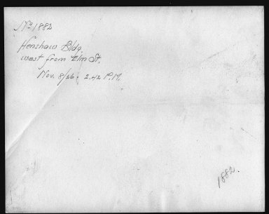 Rapid Transit Photographs -- Box 12, Folder 20 (November 8, 1926) -- print, 1926-11-08, 2:42 P.M. (back of photograph)