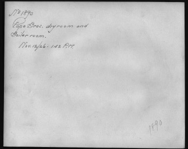 Rapid Transit Photographs -- Box 12, Folder 22 (November 12, 1926) -- print, 1926-11-12, 1:52 P.M. (back of photograph)