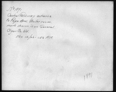 Rapid Transit Photographs -- Box 12, Folder 22 (November 12, 1926) -- print, 1926-11-12, 1:56 P.M. (back of photograph)