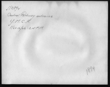Rapid Transit Photographs -- Box 12, Folder 22 (November 12, 1926) -- print, 1926-11-12, 2:15 P.M. (back of photograph)