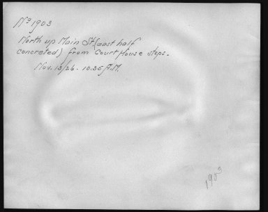 Rapid Transit Photographs -- Box 12, Folder 23 (November 12, 1926 - November 22, 1926) -- print, 1926-11-13, 10:35 A.M. (back of photograph)