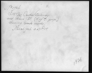 Rapid Transit Photographs -- Box 12, Folder 24 (November 22, 1926) -- print, 1926-11-22, 3:47 P.M. (back of photograph)