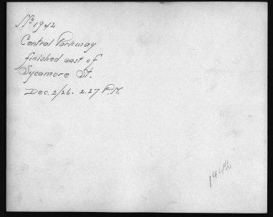 Rapid Transit Photographs -- Box 12, Folder 26 (December 2, 1926) -- print, 1926-12-02, 2:27 P.M. (back of photograph)