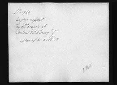 Rapid Transit Photographs -- Box 12, Folder 29 (December 3, 1926 - December 6, 1926) -- print, 1926-12-03, 3:00 P.M. (back of photograph)