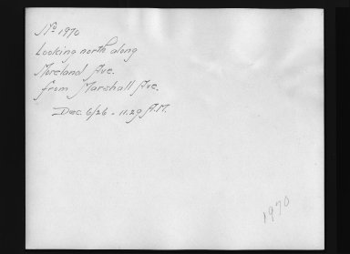 Rapid Transit Photographs -- Box 12, Folder 30 (December 6, 1926) -- print, 1926-12-06, 11:29 A.M. (back of photograph)