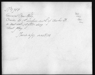 Rapid Transit Photographs -- Box 12, Folder 32 (March 8, 1927 - March 16, 1927) -- print, 1927-03-16, 10:03 P.M. (back of photograph)