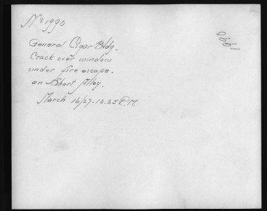 Rapid Transit Photographs -- Box 12, Folder 32 (March 8, 1927 - March 16, 1927) -- print, 1927-03-16, 10:25 P.M. (back of photograph)