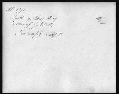Rapid Transit Photographs -- Box 12, Folder 33 (March 16, 1927 - April 6, 1927) -- print, 1927-03-16, 10:30 A.M. (back of photograph)