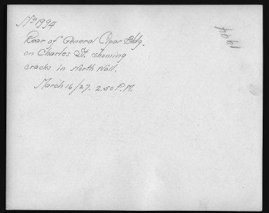 Rapid Transit Photographs -- Box 12, Folder 33 (March 16, 1927 - April 6, 1927) -- print, 1927-03-16, 2:50 P.M. (back of photograph)