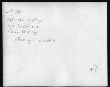 Rapid Transit Photographs -- Box 12, Folder 33 (March 16, 1927 - April 6, 1927) -- print, 1927-03-16, 2:55 P.M. (back of photograph)
