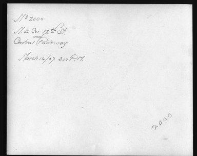 Rapid Transit Photographs -- Box 12, Folder 33 (March 16, 1927 - April 6, 1927) -- print, 1927-03-16, 3:10 P.M. (back of photograph)