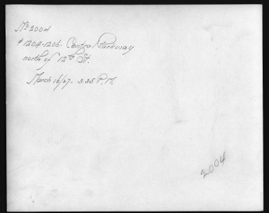 Rapid Transit Photographs -- Box 12, Folder 33 (March 16, 1927 - April 6, 1927) -- print, 1927-03-16, 3:35 P.M. (back of photograph)