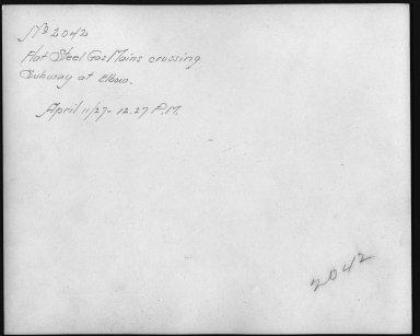 Rapid Transit Photographs -- Box 12, Folder 35 (April 11, 1927 - April 27, 1927) -- print, 1927-04-11, 12:27 P.M. (back of photograph)