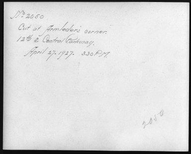 Rapid Transit Photographs -- Box 12, Folder 35 (April 11, 1927 - April 27, 1927) -- print, 1927-04-27, 3:30 P.M. (back of photograph)