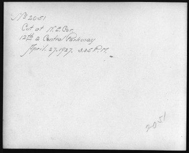 Rapid Transit Photographs -- Box 12, Folder 35 (April 11, 1927 - April 27, 1927) -- print, 1927-04-27, 3:35 P.M. (back of photograph)