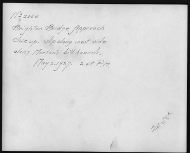 Rapid Transit Photographs -- Box 12, Folder 36 (May 2, 1927) -- print, 1927-05-02, 2:48 P.M. (back of photograph)