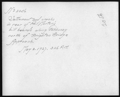 Rapid Transit Photographs -- Box 12, Folder 36 (May 2, 1927) -- print, 1927-05-02, 3:06 P.M. (back of photograph)