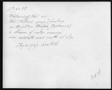 Rapid Transit Photographs -- Box 12, Folder 36 (May 2, 1927) -- print, 1927-05-02, 3:20 P.M. (back of photograph)