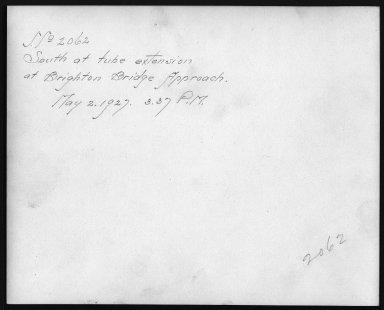Rapid Transit Photographs -- Box 12, Folder 36 (May 2, 1927) -- print, 1927-05-02, 3:37 P.M. (back of photograph)