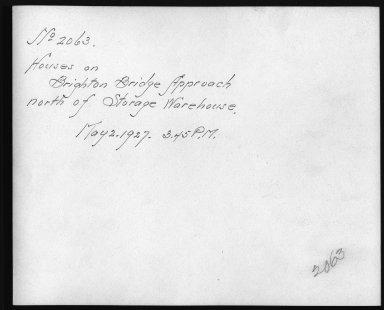 Rapid Transit Photographs -- Box 12, Folder 37 (May 2, 1927 - May 27, 1927) -- print, 1927-05-02, 3:45 P.M. (back of photograph)