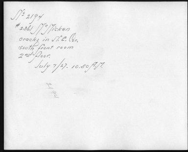Rapid Transit Photographs -- Box 12, Folder 48 (July 7, 1927) -- print, 1927-07-07, 10:50 A.M. (back of photograph)