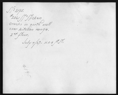 Rapid Transit Photographs -- Box 12, Folder 48 (July 7, 1927) -- print, 1927-07-07, 11:03 A.M. (back of photograph)
