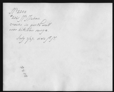 Rapid Transit Photographs -- Box 12, Folder 49 (July 7, 1927 - July 11, 1927) -- print, 1927-07-07, 11:40 A.M. (back of photograph)