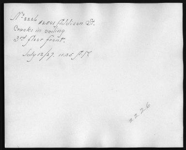 Rapid Transit Photographs -- Box 12, Folder 52 (July 12, 1927) -- print, 1927-07-12, 11:35 A.M. (back of photograph)