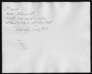 Rapid Transit Photographs -- Box 12, Folder 52 (July 12, 1927) -- print, 1927-07-12, 11:45 A.M. (back of photograph)
