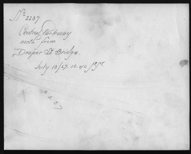 Rapid Transit Photographs -- Box 12, Folder 54 (July 13, 1927 - July 26, 1927) -- print, 1927-07-13, 10:40 A.M. (back of photograph)