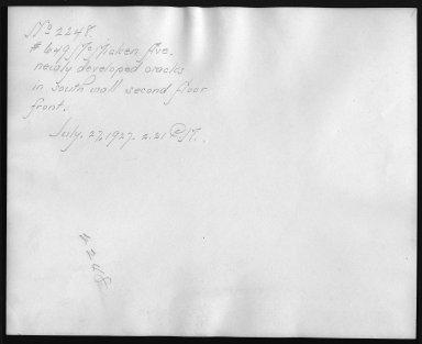 Rapid Transit Photographs -- Box 12, Folder 55 (July 26, 1927 - July 29, 1927) -- print, 1927-07-27, 2:21 P.M. (back of photograph)