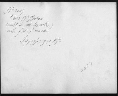 Rapid Transit Photographs -- Box 12, Folder 55 (July 26, 1927 - July 29, 1927) -- print, 1927-07-29, 9:45 A.M. (back of photograph)