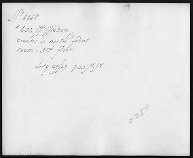Rapid Transit Photographs -- Box 12, Folder 55 (July 26, 1927 - July 29, 1927) -- print, 1927-07-29, 9:53 A.M. (back of photograph)