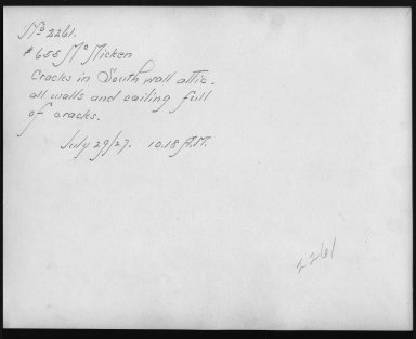 Rapid Transit Photographs -- Box 12, Folder 56 (July 29, 1927) -- print, 1927-07-29, 10:18 A.M. (back of photograph)
